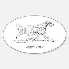 English Setter Sticker (Oval)