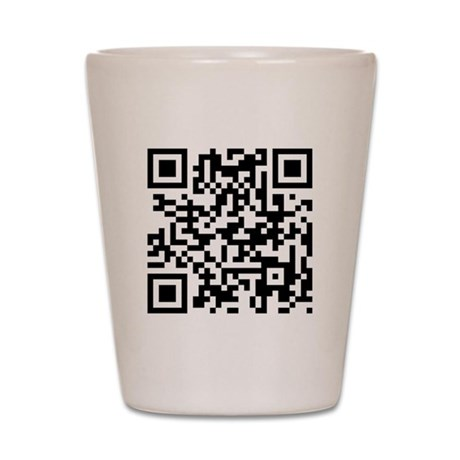 QR Jesus Saves Shot Glass