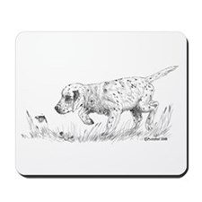 English Setter Puppy Mousepad