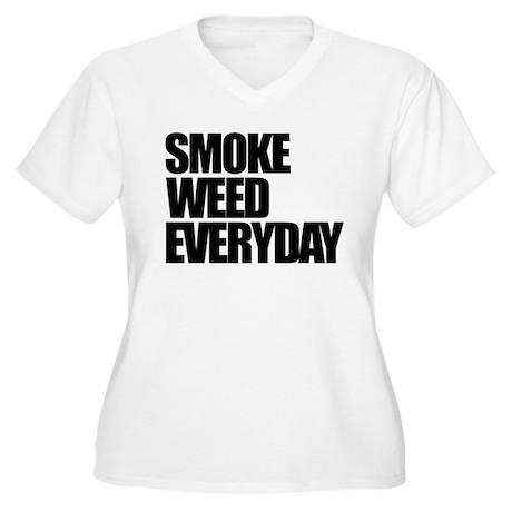 Smoke Weed Everyday Women's Plus Size V-Neck T-Shi