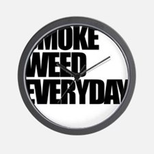 Smoke Weed Everyday Wall Clock