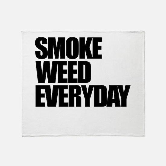 Smoke Weed Everyday Throw Blanket