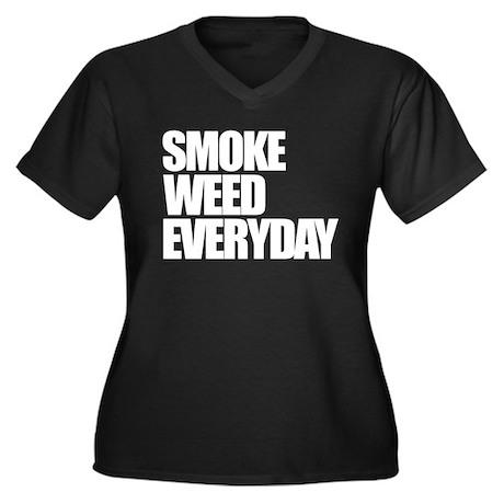 Smoke Weed Everyday Women's Plus Size V-Neck Dark