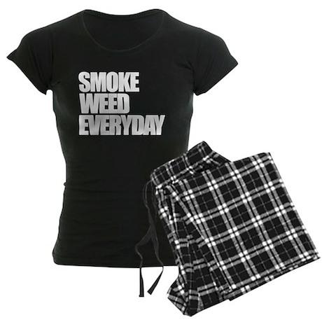 Smoke Weed Everyday Women's Dark Pajamas