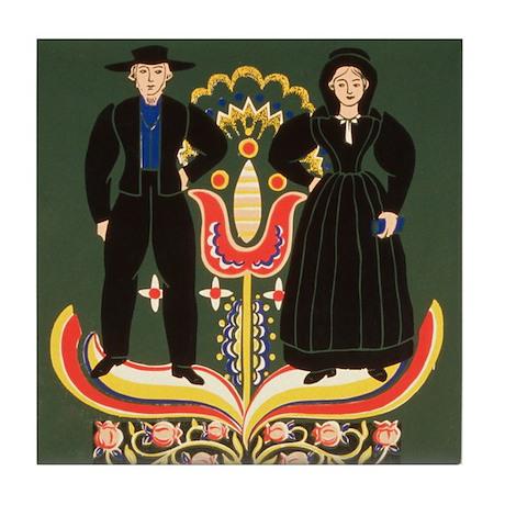 Pennsylvania Dutch Tile Coaster