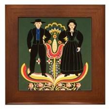 Pennsylvania Dutch Framed Tile