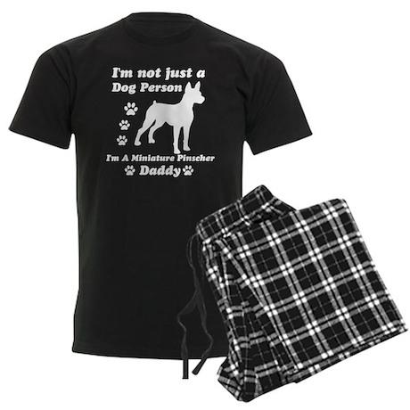 Miniature pinscher daddy Men's Dark Pajamas