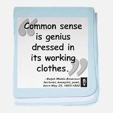 Emerson Genius Quote baby blanket