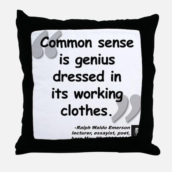 Emerson Genius Quote Throw Pillow