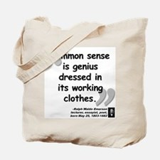 Emerson Genius Quote Tote Bag