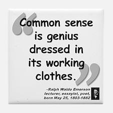 Emerson Genius Quote Tile Coaster