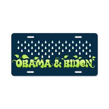 Green Obama Biden Aluminum License Plate