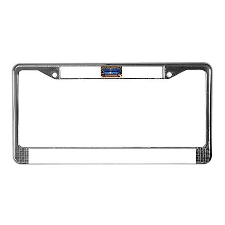 Bench License Plate Frame