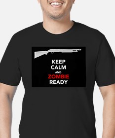 Zombie Ready Men's Fitted T-Shirt (dark)
