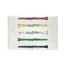 Clarinet Colors Rectangle Magnet