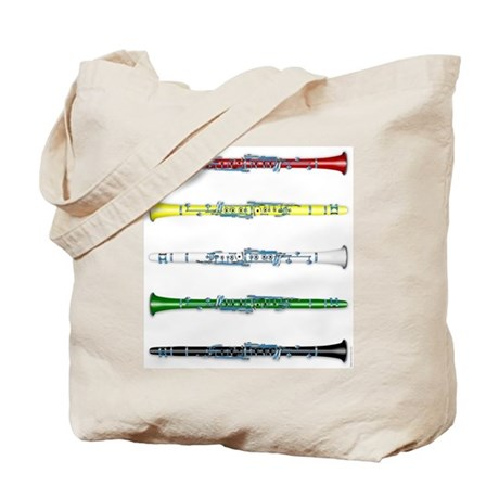 Clarinet Colors Tote Bag