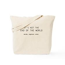 End world Tote Bag