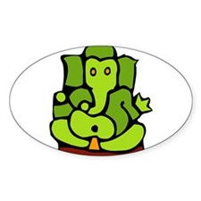 Green Ganesha Decal