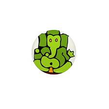 Green Ganesha Mini Button