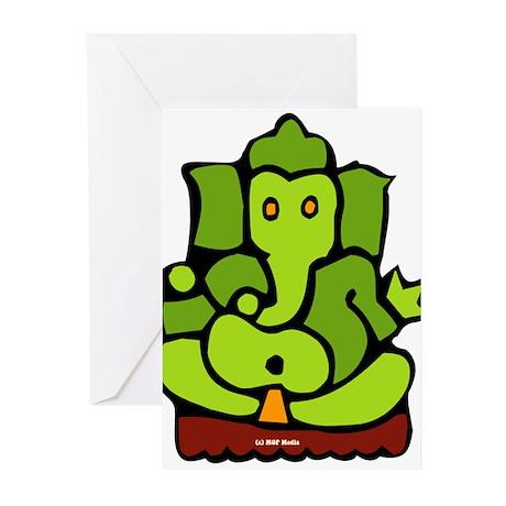 Green Ganesha Greeting Cards (Pk of 20)