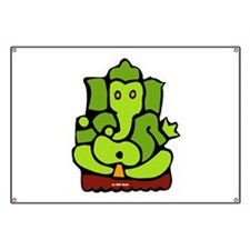 Green Ganesha Banner