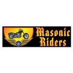 Masonic Riders Sticker (Bumper)