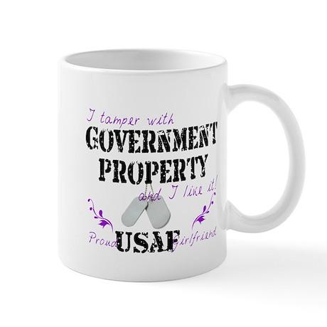 Tamper w Gov Property AF Girlfriend Mug