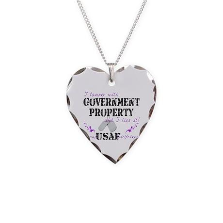Tamper w Gov Property AF Girlfriend Necklace Heart