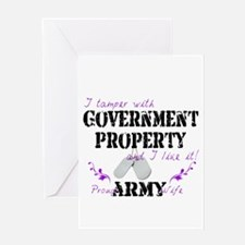 Tamper w Government Property A Wife Greeting Card
