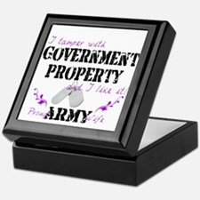 Tamper w Government Property A Wife Keepsake Box