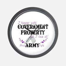 Tamper w Government Property A Wife Wall Clock