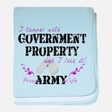 Tamper w Government Property A Wife baby blanket