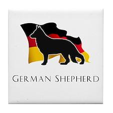 """German"" Shepherd Tile Coaster"