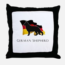 """German"" Shepherd Throw Pillow"