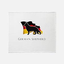 """""""German"""" Shepherd Throw Blanket"""
