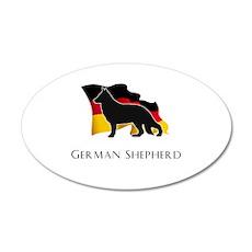 """German"" Shepherd 22x14 Oval Wall Peel"