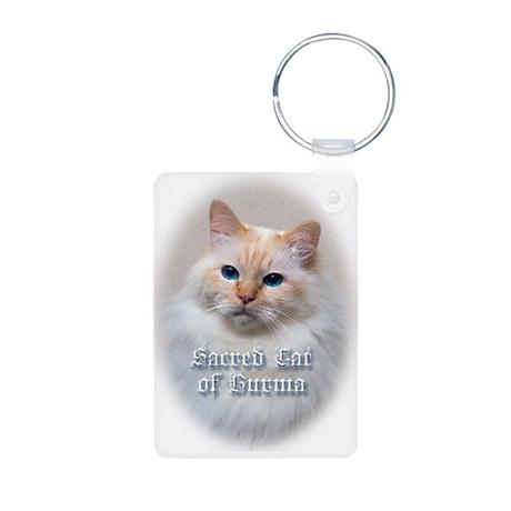 Birman Cat Aluminum Photo Keychain