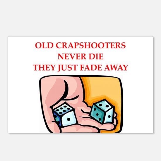 craps player Postcards (Package of 8)