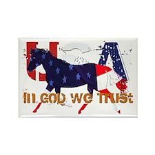 Patriotic Horse Rectangle Magnet (100 pack)