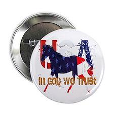 """Patriotic Horse 2.25"""" Button"""