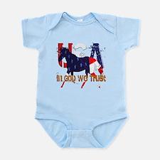 Patriotic Horse Infant Bodysuit