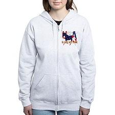 Patriotic Horse Zip Hoodie