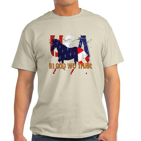Patriotic Horse Light T-Shirt
