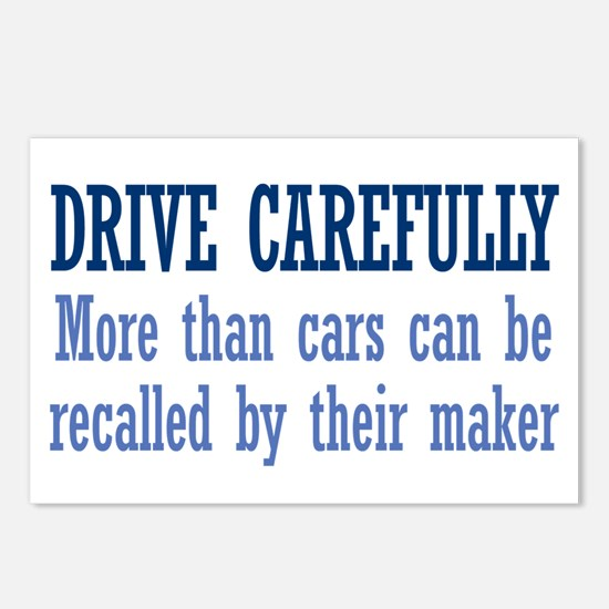Drive Carefully Postcards (Package of 8)