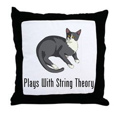 Plays With String Theory Throw Pillow