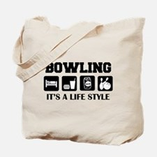 Funny Bowling Drink Beer Tote Bag