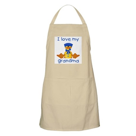 I love my grandma (boy ducky) BBQ Apron