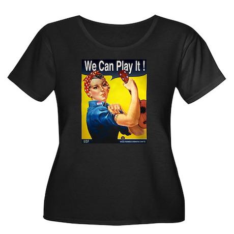 We Can Play It! Women's Plus Size Scoop Neck Dark