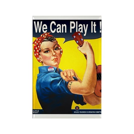We Can Play It! Rectangle Magnet (100 pack)
