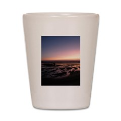 Lincoln City Sunset Shot Glass